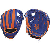 "Wilson 10"" A200 New York Mets T-Ball Glove"