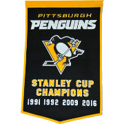 2016 NHL Stanley Cup Champions Pittsburgh Penguins Dynasty Banner