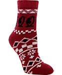 Yaktrax Women's Holiday Cozy Penguin Cabin Socks