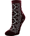 Yaktrax Women's Cozy Pristine Fair Isle Cabin Socks