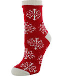 Yaktrax Women's Cozy Snowflake Rose Cabin Socks