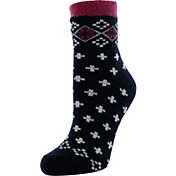 Yaktrax Women's Cozy Cabin Fairisle Socks
