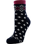 Yaktrax Women's Cozy Tipped Fair Isle Cabin Socks