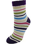 Yaktrax Kids' Cozy Multi Stripe Cabin Socks