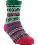 Yaktrax Kids' Cozy Pattern Stripe Cabin Socks