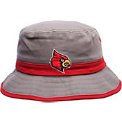 Zephyr Men's Louisville Cardinals Grey Thunder Bucket Hat