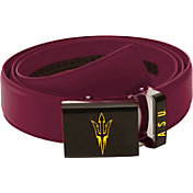 Zephyr Belts by Mission Men's Arizona State Sun Devils Maroon Leather Logo Belt
