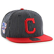'47 Men's Cleveland Indians Woodside Captain Navy Adjustable Snapback Hat