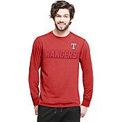 '47 Men's Texas Rangers Red Long Sleeve Shirt