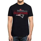 '47 Men's AFC Champions New England Patriots Splitter Navy T-Shirt