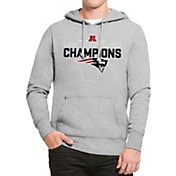 '47 Men's AFC Champions New England Patriots Headline Grey Hoodie