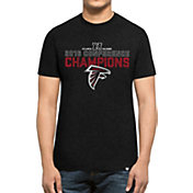 '47 Men's NFC Champions Atlanta Falcons Splitter Black T-Shirt