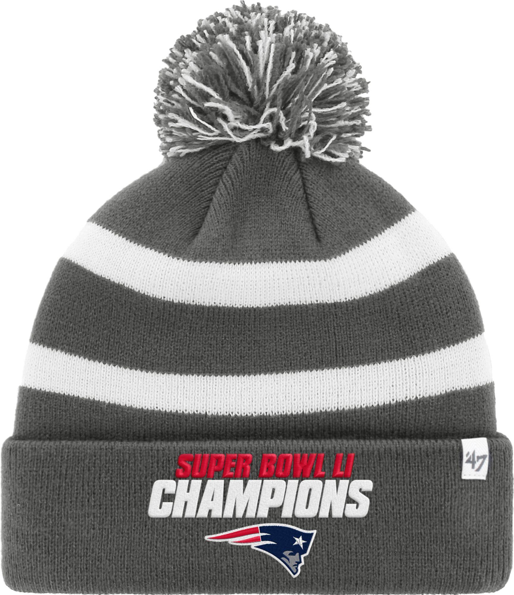 ??47 Mens Super Bowl LI Champions New England Patriots Breakaway Grey Cuffed Knit DICKS Sporting Goods
