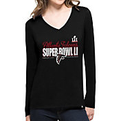'47 Women's Super Bowl LI Bound Atlanta Falcons Splitter Black Long Sleeve Shirt