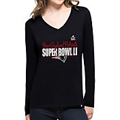 '47 Women's Super Bowl LI Bound New England Patriots Splitter Navy Long Sleeve Shirt