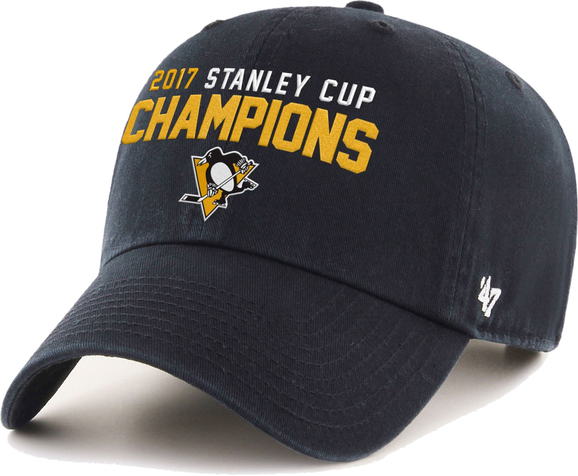 47 Mens 2017 NHL Stanley Cup Champions Pittsburgh Penguins Clean Up Adjustable Hat DICKS Sporting Goods