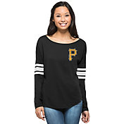 '47 Women's Pittsburgh Pirates Black Courtside Long Sleeve Shirt