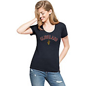'47 Women's Cleveland Cavaliers Wordmark Navy Scoop Neck T-Shirt