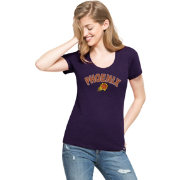 '47 Women's Phoenix Suns Wordmark Purple Scoop Neck T-Shirt