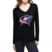 '47 Women's Columbus Blue Jackets Splitter Navy Long Sleeve T-Shirt