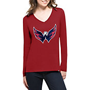 '47 Women's Washington Capitals Splitter Red Long Sleeve T-Shirt