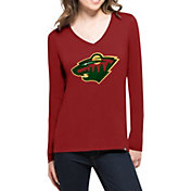'47 Women's Minnesota Wild Splitter Red Long Sleeve T-Shirt