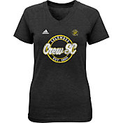 adidas Youth Girls' Columbus Crew Dusty Sky Black T-Shirt