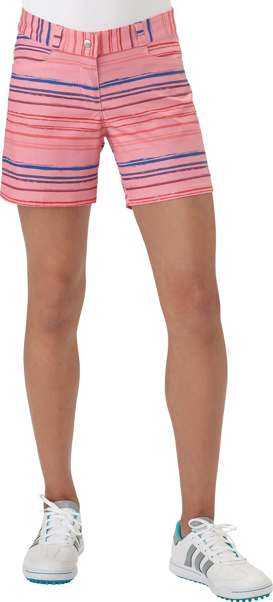 adidas Girls Paint Stripe Golf Shorts DICKS Sporting Goods