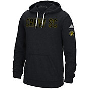 adidas Men's Columbus Crew Ultimate Fleece Grey Pullover Hoodie