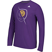 adidas Men's Orlando City Uncovered Ultimate Purple Long Sleeve T-Shirt