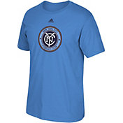 adidas Men's New York City FC Logo Blue T-Shirt