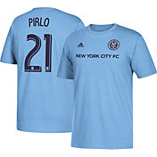 adidas Men's New York City FC Andrea Pirlo #21 Player Blue T-Shirt