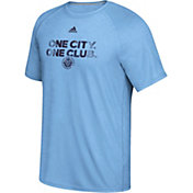 adidas Men's New York City FC War Paint Blue T-Shirt