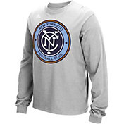 adidas Men's New York City FC Long Sleeve Grey T-Shirt