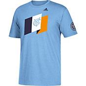 adidas Men's New York City FC Blue T-Shirt