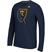 adidas Men's Real Salt Lake Uncovered Ultimate Navy Long Sleeve T-Shirt