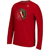 adidas Men's Atlanta United Uncovered Ultimate Red Long Sleeve T-Shirt