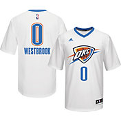 adidas Men's Oklahoma City Thunder Russell Westbrook #0 Home White Replica Jersey