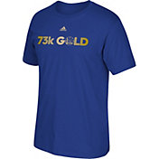"adidas Men's Golden State Warriors ""73K Gold"" Royal T-Shirt"