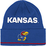 adidas Men's Kansas Jayhawks Blue Cuffed Knit Hat
