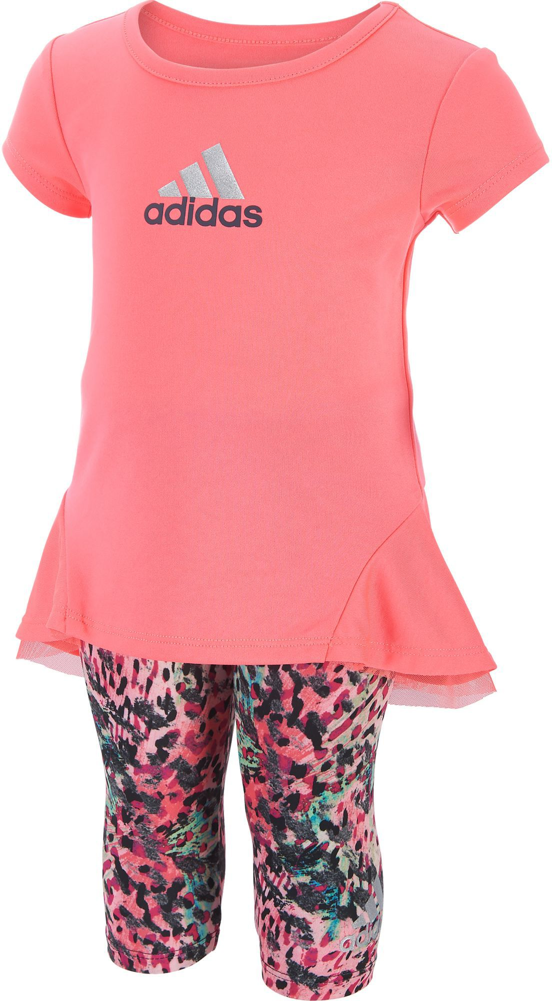 adidas Infant Girls T Shirt and Printed Capris Two Piece Set DICKS Sporting Goods