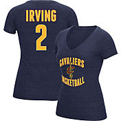 adidas Women's Cleveland Cavaliers Kyrie Irving #2 Navy Tri-Blend V-Neck T-Shirt