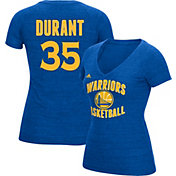 adidas Women's Golden State Warriors Kevin Durant #35 Royal Tri-Blend V-Neck T-Shirt