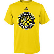 adidas Youth Columbus Crew Big Logo Yellow T-Shirt
