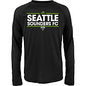 adidas Youth Seattle Sounders Dassler Long Sleeve Black T-Shirt