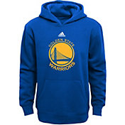 adidas Youth Golden State Warriors Logo Royal Pullover Hoodie