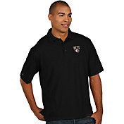 Antigua Men's Brooklyn Nets Xtra-Lite Black Pique Performance Polo