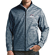 Antigua Men's 5X Super Bowl LI Champions New England Patriots Full-Zip Navy Golf Jacket