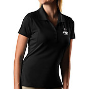 Antigua Women's Super Bowl LI Bound Atlanta Falcons Pique Xtra-Lite Black Polo