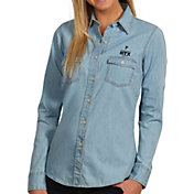 Antigua Women's Super Bowl LI Bound Atlanta Falcons Button-Up Chambray